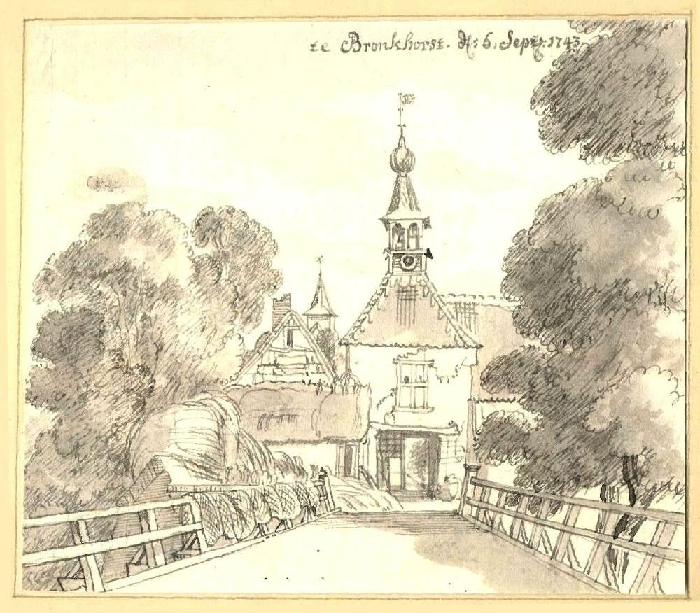 Bronkhorst in Bronkhorst. Tekening Jan de Beijer, 1743